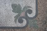 Detalhe do marmorite na escada do Chalé de Ferro
