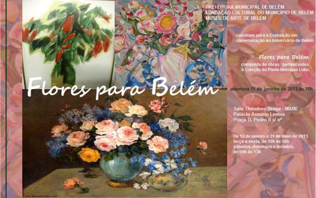 Convite Flores para Belém