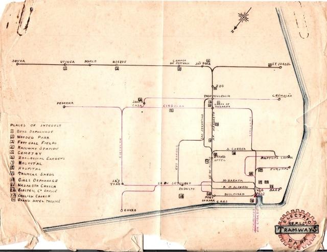 Mapa bondes