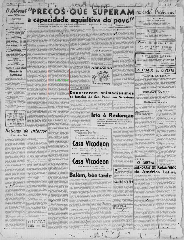 Jornal de julho de 1951