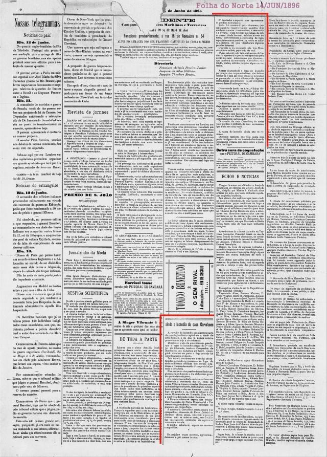 Folha do Norte 14 junho de 1896-1