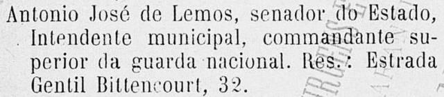Almanack endereço Lemos