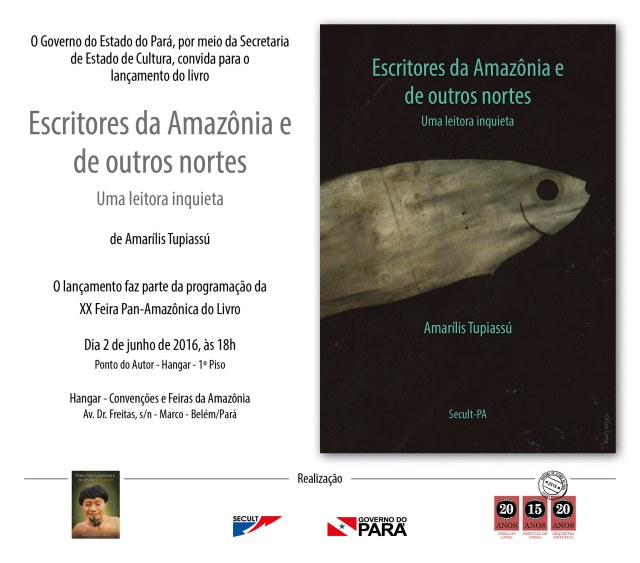 Livro Escritores da Amazonia e de outros nortes - convite virtual